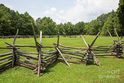 Photograph - Split-rail Fence And Farm Field by Kevin McCarthy