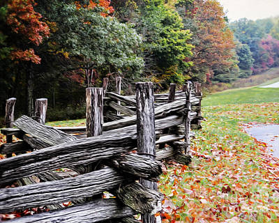 Photograph - Split Rail Fence by Dawn Gari