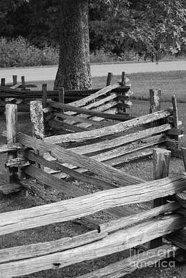 Art Print featuring the photograph Split Rail Fence by Eric Liller