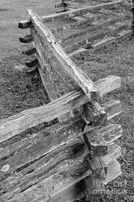 Photograph - Split Rail Fence by John  Mitchell