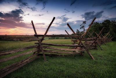 Photograph - Split Rail Fence by Ryan Wyckoff