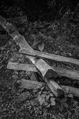 Split Rail Fence Photograph - Split Rail by Joseph Smith