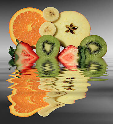 Snack Mixed Media - Split Reflections by Shane Bechler