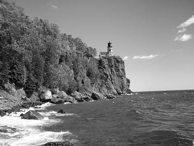Photograph - Split Rock Black And White by Bonfire Photography