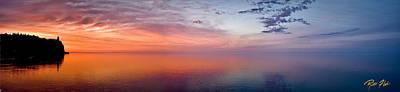 Photograph - Split Rock Dawn Panorama by Rikk Flohr