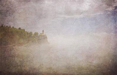 Duluth Digital Art - Split Rock In The Fog V2 by Heidi Hermes