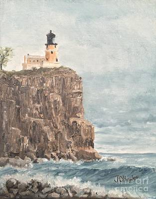 Split Rock Lighthouse Painting - Split Rock Light House 4  by J O Huppler