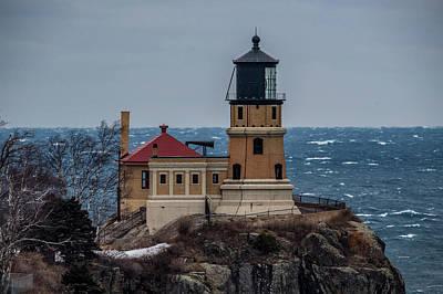Photograph - Split Rock Lighthouse Closeup by Paul Freidlund