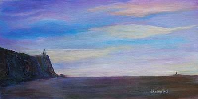 Split Rock Lighthouse Painting - Split Rock Lighthouse II by Rod Skramstad