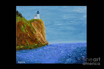 Painting - Split Rock Lighthouse by Jack Hedges