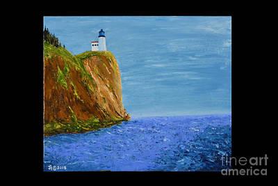 Painting - Split Rock Lighthouse by Jack Hedges