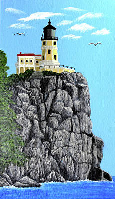 Painting - Split Rock Lighthouse Painting by Frederic Kohli