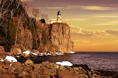 Art Print featuring the photograph Split Rock Lighthouse by Susan Rissi Tregoning