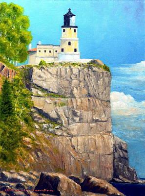 Split Rock Lighthouse Painting - Split Rock Lighthouse by Tenzin Tamding