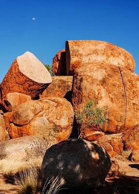 Photograph - Split Rocks Devils Marbles by Lexa Harpell