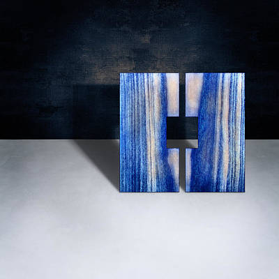 Floating Box Photograph - Split Square Blue by YoPedro
