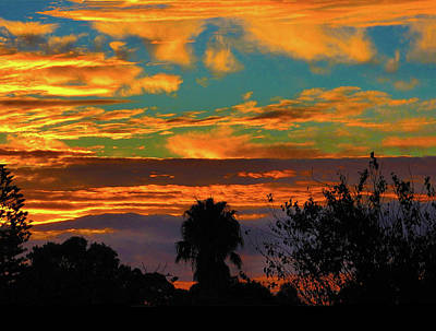 Photograph - Split Sunset by Mark Blauhoefer