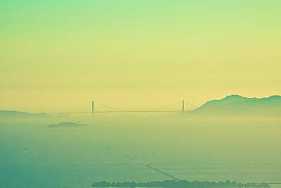 Photograph - Split Tone Gate Bridge by Digiblocks Photography