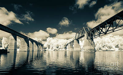 Photograph - Split Tone Trestles by Charles Hite
