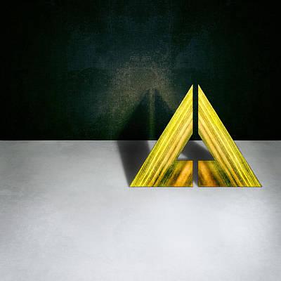 Escher Photograph - Split Triangle Green by YoPedro