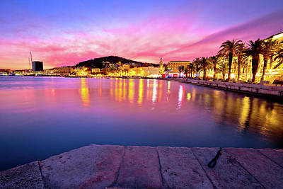 Photograph - Split Waterfront Sundown Waterfront View by Brch Photography