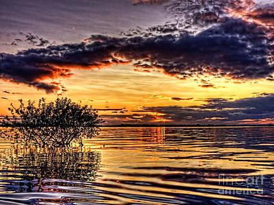 Splitting Sun Art Print by Kim Shatwell-Irishphotographer