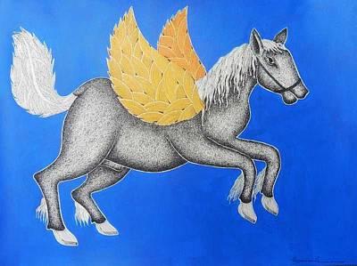 Gond Tribal Art Painting - Spm 12 by Shiv Prasad Malviya