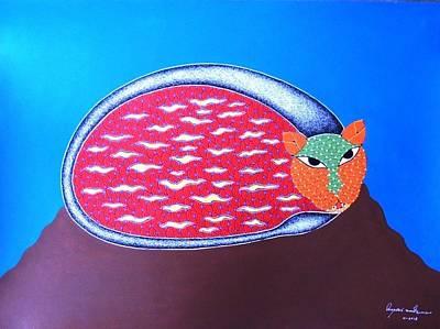 Gond Art Painting - Spm 35 by Shiv Prasad Malviya