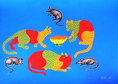 Gond Art Painting - Spm 36 by Shiv Prasad Malviya