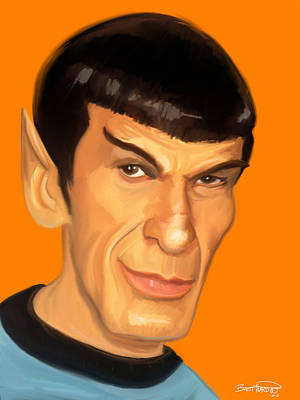 Fan Art Painting - Spock by Brett Hardin