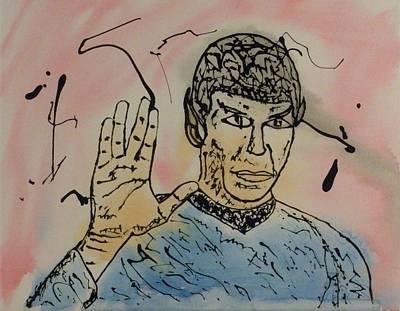 Enterprise Painting - Spock by James Osborn