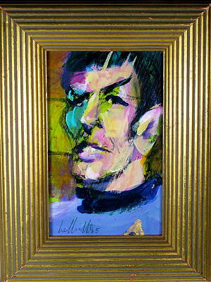 Painting - Spock by Les Leffingwell