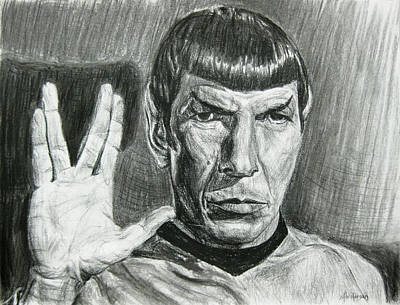 Drawing - Spock by Michael Morgan