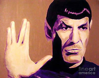 Spock Star Trek Nimoy Art Print