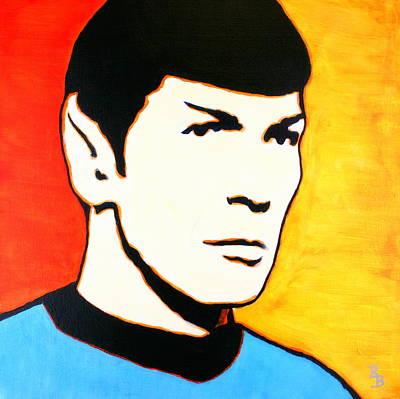 Painting - Spock Vulcan Star Trek Pop Art by Bob Baker