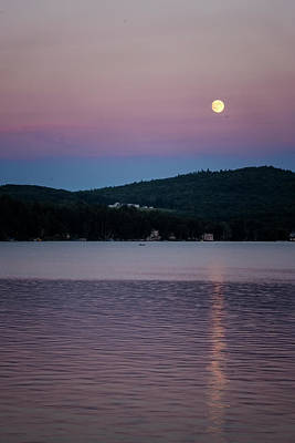 Photograph - Spofford Moonrise by Tom Singleton