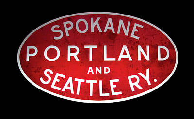 Mixed Media - Spokane, Portland And Seattle Railway Sign  by Daniel Hagerman
