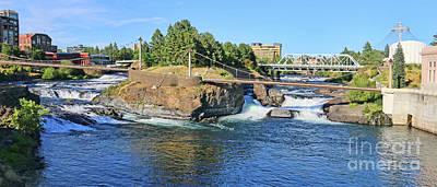 Photograph - Spokane River Rapids 3673 by Jack Schultz