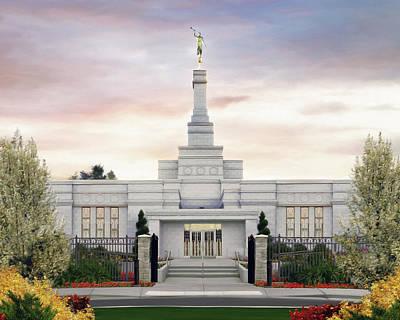 Spokane Washington Temple Art Print