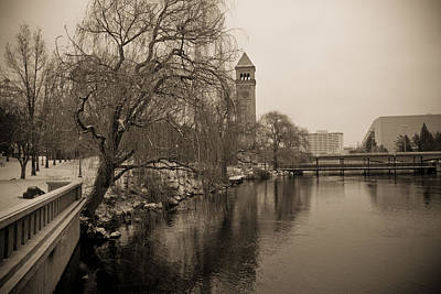 Spokane Winter Art Print