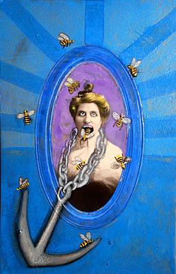 Spoke In Bees Art Print