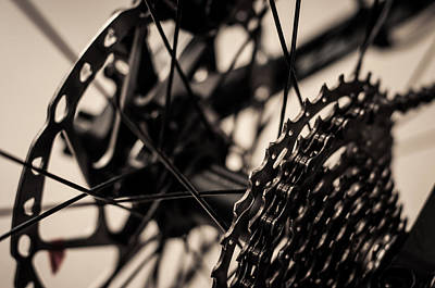 Photograph - Spokes Pedals And Chains by Miguel Winterpacht