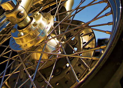 Photograph - Spokes by Ricky Barnard