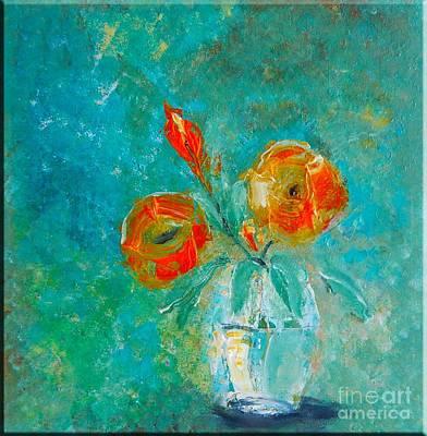Palette Knife Floral Art Print by Lisa Kaiser