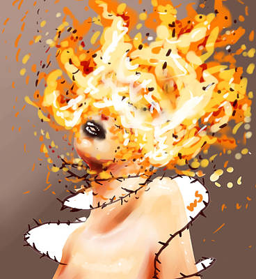 Digital Art - Spontaneous Combustion by Willow Schafer