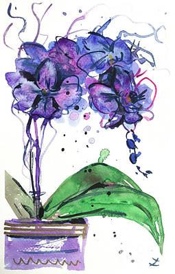 Painting - Spontaneous Orchids by Zaira Dzhaubaeva