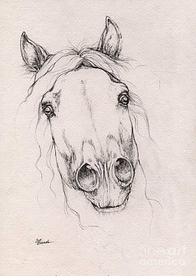 Horses Drawing - Spooked Horse 2015 12 08 by Angel Tarantella