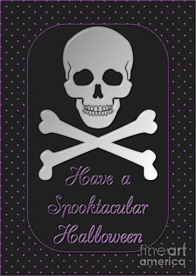 Digital Art - Spooktacular Skull Halloween by JH Designs