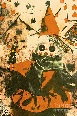 Spooky Carnival Clown Doll Art Print