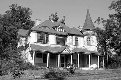 Photograph - Spooky Chester South Carolina House 1 Bw by Joseph C Hinson Photography
